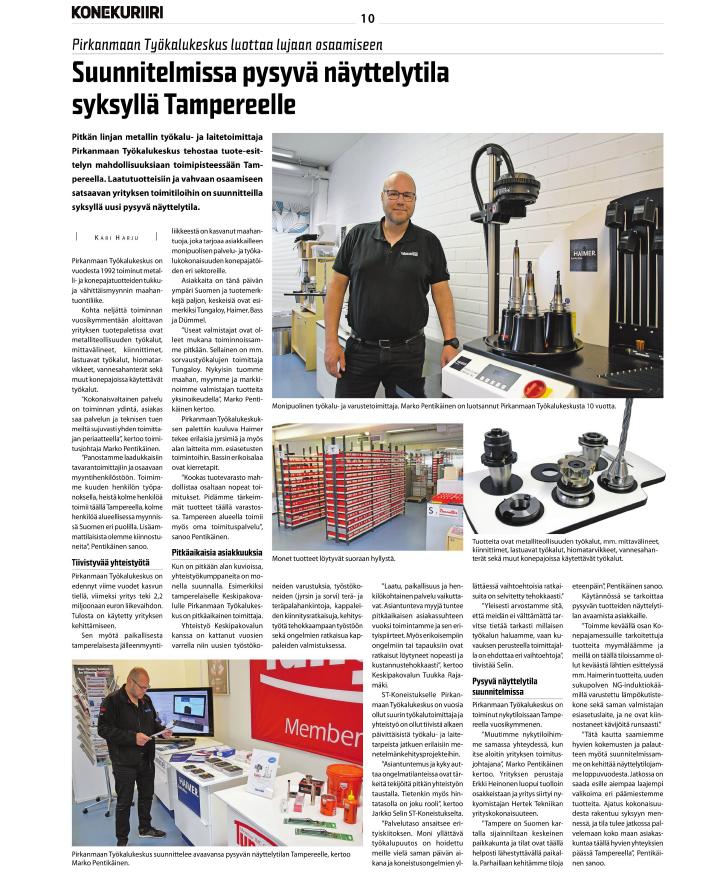 Pirkanmaan Työkalukeskus luottaa lujaan osaamiseen ja suunnittelee pysyvää näyttelytilaa Tampereelle