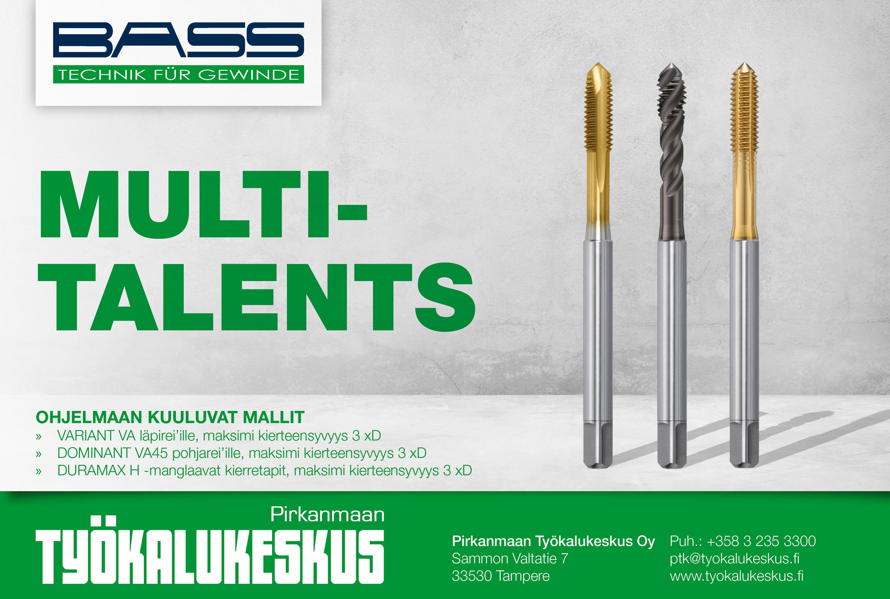 BASSilta uudet 3 xD Multitalents-kierretapit