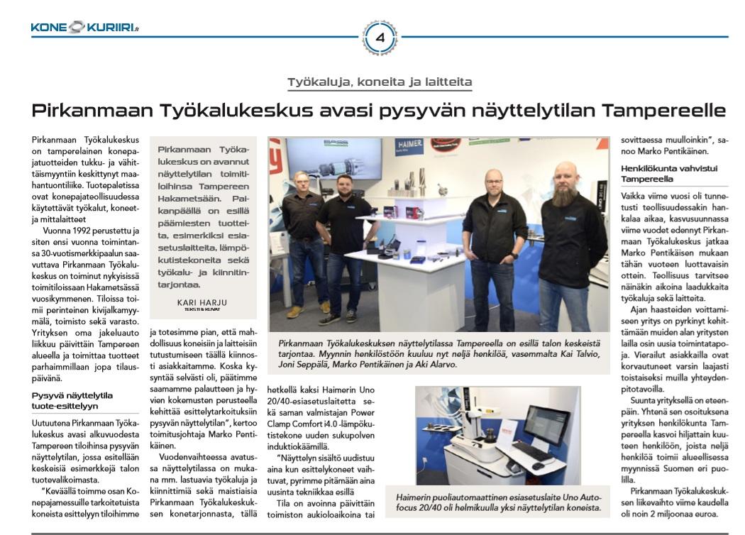 Tervetuloa tutustumaan laite- ja työkalutarjontaamme Tampereella!
